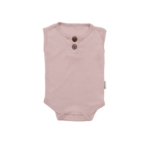 Foto Produk Nice Kids Sleeveless Bodysuit Soft Colors ( baju bayi / bodysuit bayi) - Light Pink, 18-24 months dari nicekids