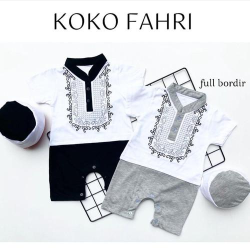 Foto Produk Baju setelan koko romper peci lebaran fashion anak bayi cowok lakilaki dari babyclothingco