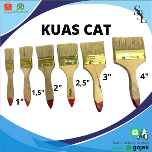"Foto Produk KUAS CAT TEMBOK GAGANG KAYU MURAH UKURAN 4"" 3"" 2 1/2"" 2"" 1 1/2"" 1"" - 1 dari SSL MARKET SURABAYA"