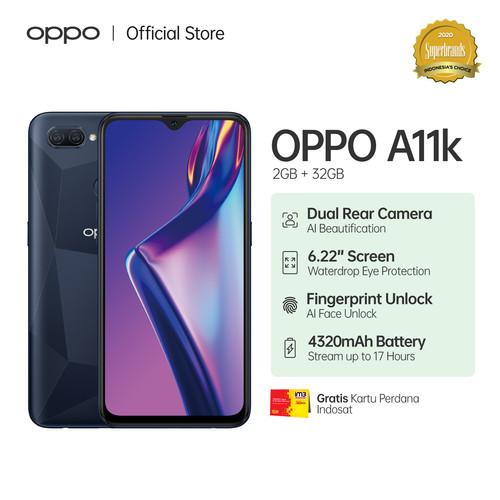 Foto Produk OPPO A11K Smartphone 2GB/32GB (Garansi Resmi) - Biru dari OPPO OFFICIAL STORE