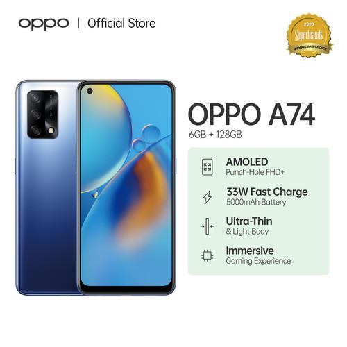 Foto Produk OPPO A74 Smartphone 6GB/128GB (Garansi Resmi) - Biru dari OPPO OFFICIAL STORE