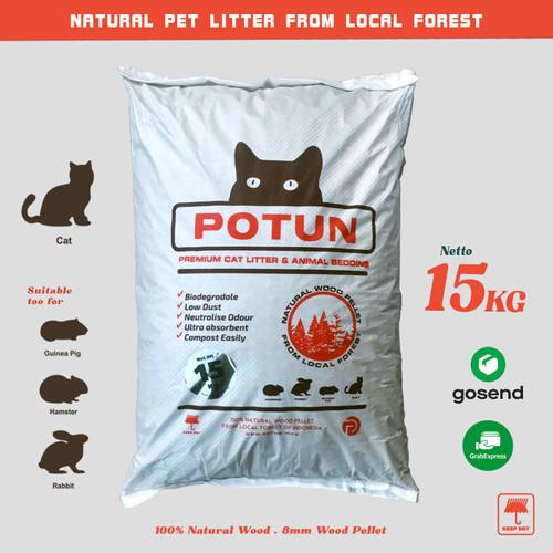 Foto Produk POTUN Wood Pellet Cat Litter 15Kg - Pasir Kucing Pelet Kayu dari POTUN