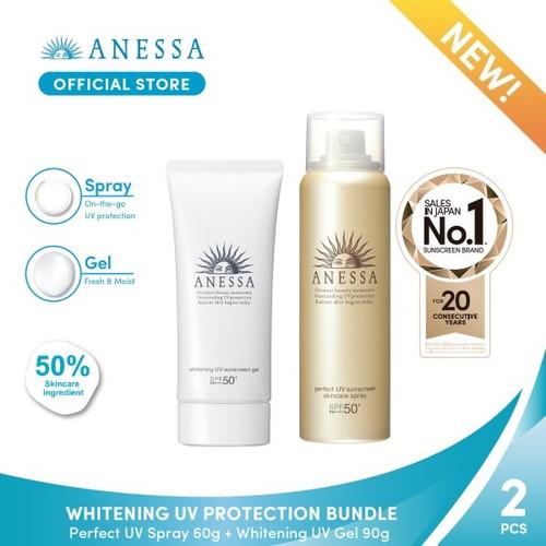 Foto Produk Anessa - Whitening UV Protection Bundle dari Anessa Official Store