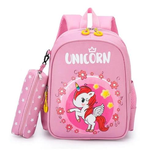 Foto Produk DS99 Tas Ransel anak perempuan unicorn tas punggung cewe paud SD 12345 - Pink Baby dari dream_shop_99