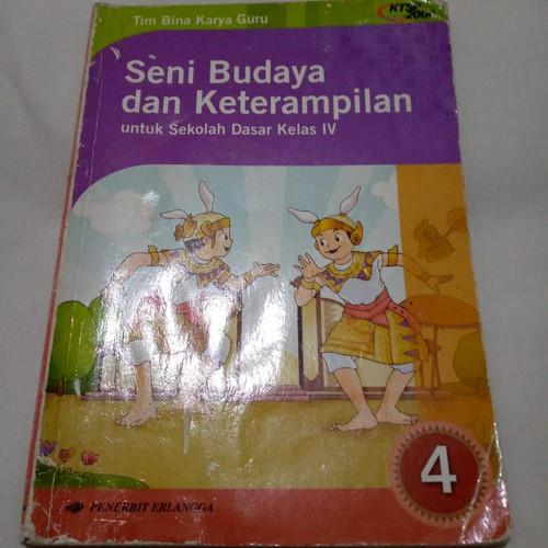Foto Produk Preloved Buku Seni Budaya dan Keterampilan/SBK Erlangga Kelas SD 4 Bks dari JORNIC COLLECTIONS