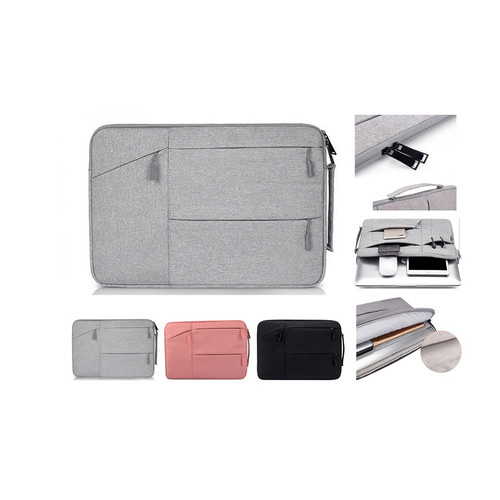Foto Produk Tas Laptop Macbook Softcase Jinjing Pocket Nylon 11 12 inch - Hitam dari gudanggadget14