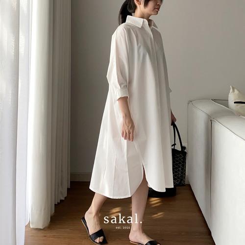 Foto Produk SAKAL Shirt Dress - WHITE dari SAKAL Official