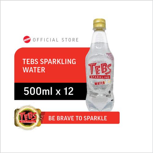 Foto Produk TEBS Sparkling Water PET 500 ml Isi 12 Botol dari Sosro Official Store