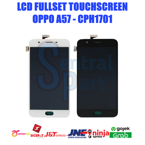 Foto Produk LCD OPPO A57 - CPH1701 FULLSET TOUCHSCREEN OEM CONTRAS MAIN GRADE AAA - Putih dari Sentral Part's