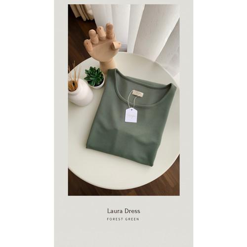 Foto Produk LAURA DRESS 132CM - Forest Green dari majafashionhouse