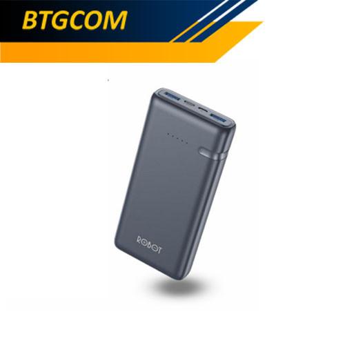 Foto Produk Robot RT21 20000mAh Two-Way Quick Fast Charge 3.0 18W Powerbank dari BTGCOM
