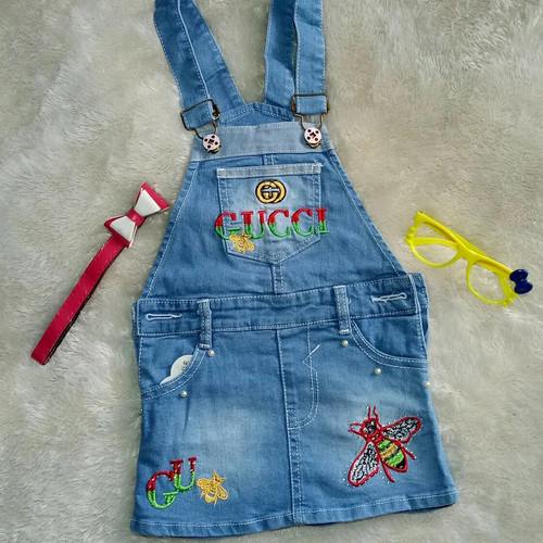 Foto Produk OVERALL ROK KODOK JEANS ANAK BAYI BAJU DRESS LEVIS ANAK PEREMPUAN dari toko ungu2
