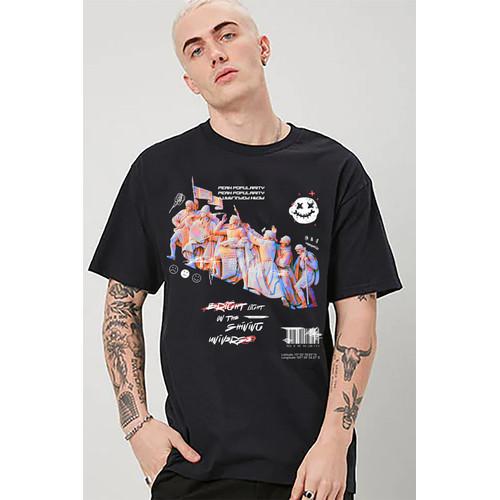Foto Produk Kaos Graphic streetwear 018   Tshirt custom  kornit beeze series DTG dari Raster Graphic Print