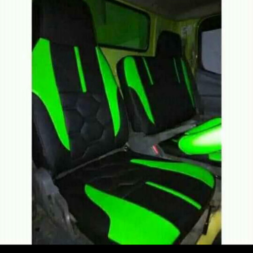Foto Produk sarung jok canter +setir - hitam hijau dari yura cover jok