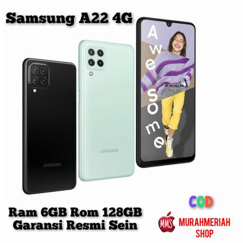 Foto Produk Samsung Galaxy A22 4G 6/128Gb Garansi Resmi Sein Tam - Hitam dari murahmeriah shop
