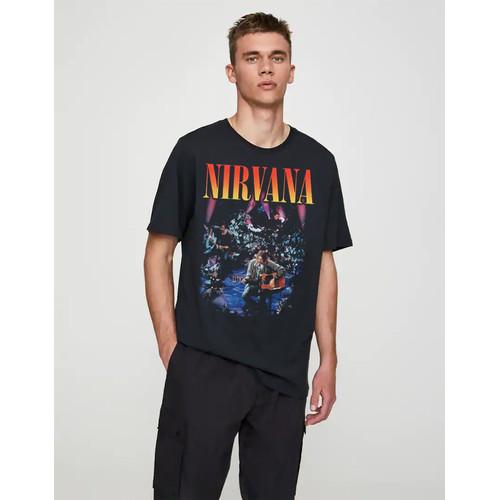 Foto Produk Kaos Nirvana   Tshirt custom  kornit beeze series DTG dari Raster Graphic Print