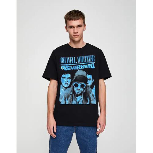 Foto Produk Kaos Nirvana 002 | Tshirt custom |kornit beeze series|DTG dari Raster Graphic Print
