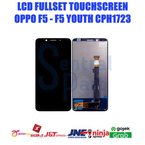 Foto Produk LCD OPPO F5 CPH1723 FULLSET TOUCHSCREEN CONTRAS MAIN GRADE AAA - Hitam dari Sentral Part's