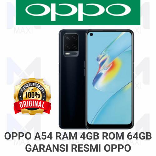 Foto Produk Oppo A54 4/64 Ram 4Gb Rom 64Gb Garansi Resmi OPPO - BLACK dari Maxi phone cell