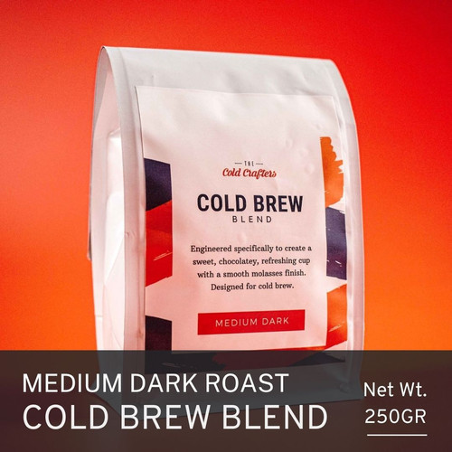 Foto Produk Cold Crafters Signature Cold Brew Blend Roasted Coffee Beans - BIJI KOPI, 250 gram dari The Cold Crafters