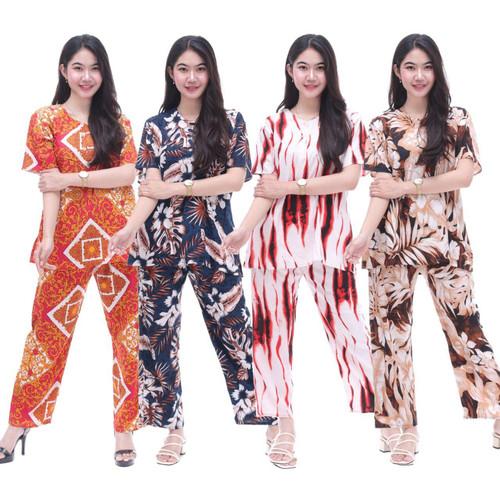 Foto Produk Setelan CP FOXY Setelan Batik Piyama Batik Baju Tidur Daster Cantik dari Shaki fashion