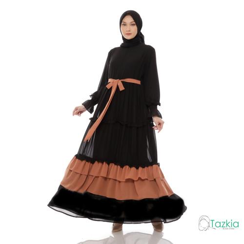 Foto Produk Dress Muslim Wanita | Gamis Brunella Hitam | Tazkia Hijab Store - M dari Tazkia Hijab Store
