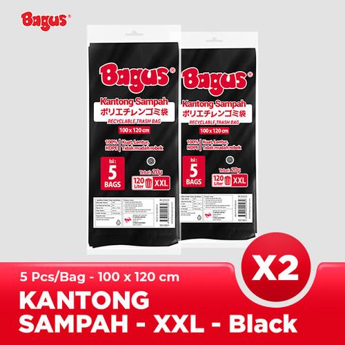 Foto Produk [Twinpack] Bagus Kantong Sampah XXL 5 Uk. 100 cm x 120 cm (120 L) - Black dari Bagus Official Store