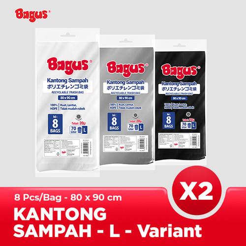 Foto Produk [Twinpack] Bagus Kantong Sampah L (8) Uk. 80 cm x 90 cm (70 L) dari Bagus Official Store