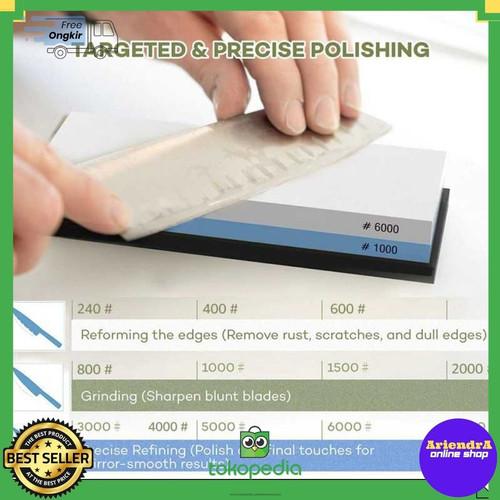 Foto Produk Batu Asahan Pengasah Pisau Whetstone Knife Sharpener 1000/6000 Grift dari ariendra online shop