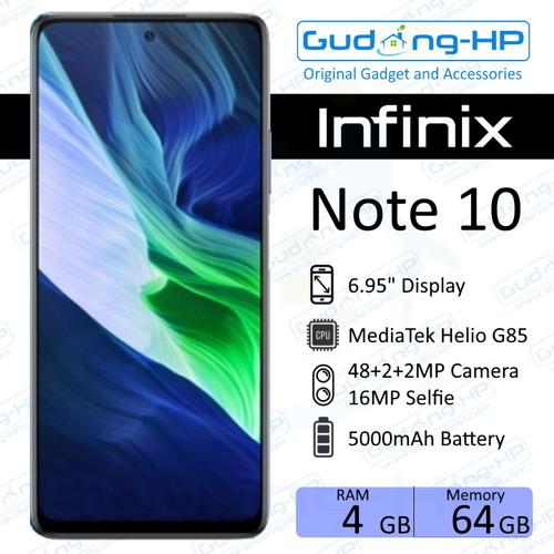 Foto Produk Infinix Note 10 4/64 GB Garansi Resmi - Hitam dari Gudang-HP