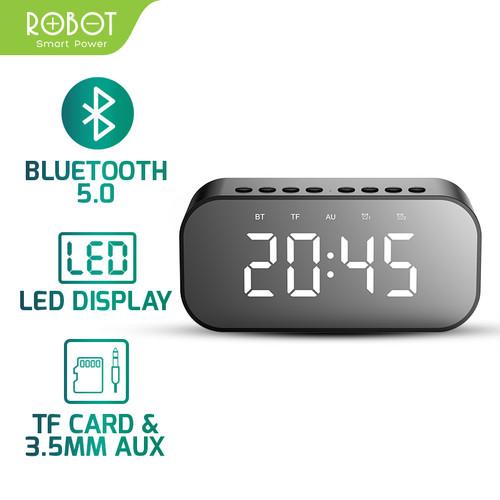 Foto Produk ROBOT Speaker Bluetooth 5.0 with LED Display & Alarm Clock RB550 - Hitam dari ROBOT OFFICIAL SHOP