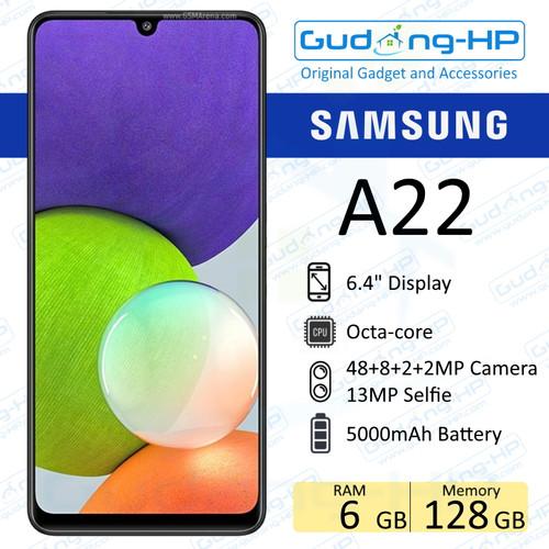 Foto Produk Samsung Galaxy A22 6/128 GB Garasi Resmi SEIN - Hitam dari Gudang-HP