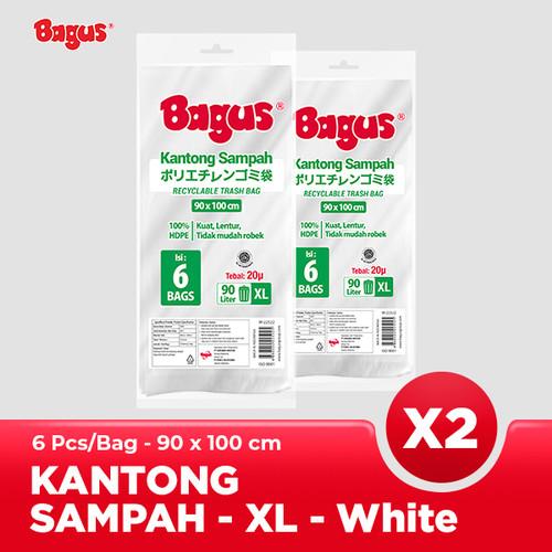 Foto Produk [Twinpack] Bagus Kantong Sampah XL 6 Uk. 90 cm x 100 cm (90 L) - White dari Bagus Official Store