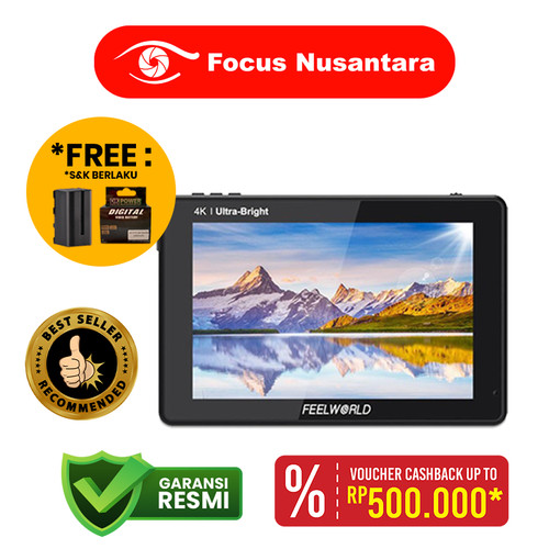 "Foto Produk FEELWORLD LUT 7S 7"" 3D LUT 4K HDMI and SDI Monitor dari Focus Nusantara"