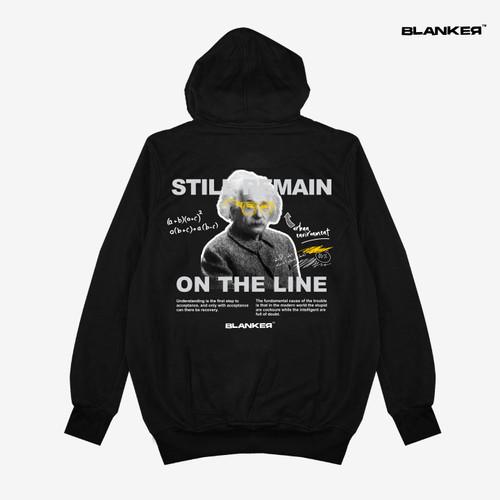 Foto Produk Hoodie BLANKER Einstein On The Line - Hitam, M dari Blanker ID Official