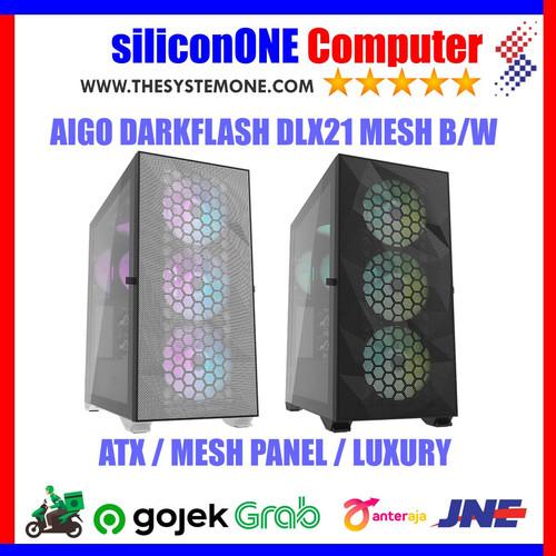 Foto Produk AIGO DLX 21 MESH BLACK / WHITE DARKFLASH ATX LUXURY dari silicon ONE Computer
