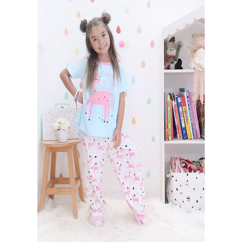 Foto Produk Piyama Anak Short Shirts I Sparkle Unicorn SSLP63 - 4 dari Boboo Kids