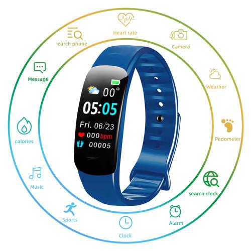 Foto Produk BIDEN smartwatch C1Plus Pria Blood Pressure Fitness Tracker Heart Rate - Biru dari BIDEN Official Store