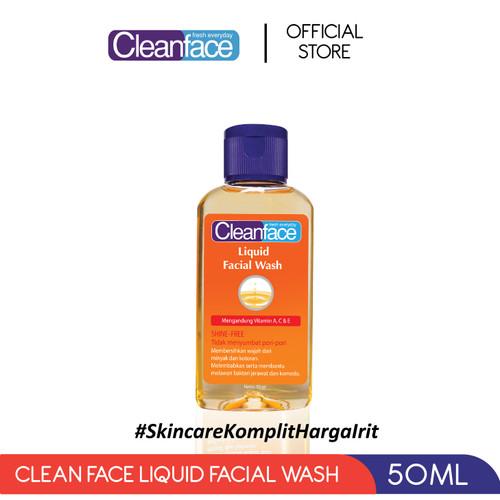 Foto Produk Cleanface Liquid Facial Wash - 50 ml dari PURBASARI INDONESIA