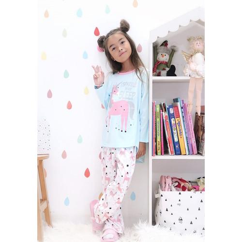 Foto Produk Piyama Anak Long Shirts I Sparkle Unicorn LSLP119 - 4 dari Boboo Kids