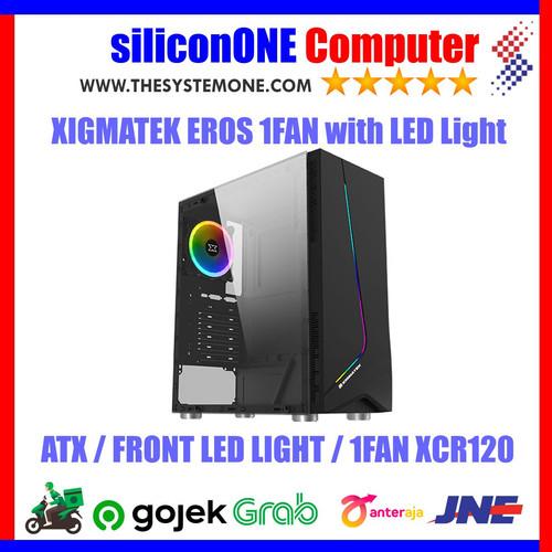 Foto Produk XIGMATEK EROS 1FAN XCR120 ATX TEMPERED GLASS RAINBOW LED FRONT PANEL dari silicon ONE Computer