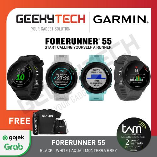 Foto Produk Garmin Forerunner 55 - Garansi Resmi TAM 2 Tahun - Black dari GeekyTech Official