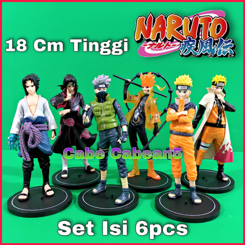Foto Produk Action Figure Naruto Set Of 6 Kakashi Sasuke Itachi dari CABE CABEAN5