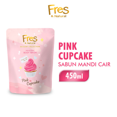 Foto Produk Fres And Natural Sabun Mandi Pink Cupcake 450 ml dari Wings Official Store