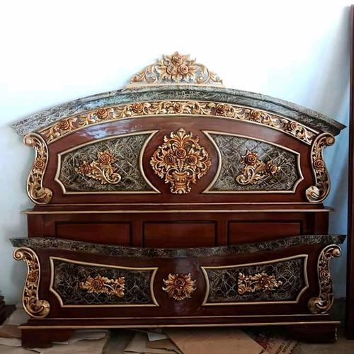 Foto Produk Tempat Tidur Set Jati Jepara Motif Murmer dari Mebel Jati Furniture Jepara
