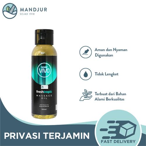Foto Produk Vivo Massage Oil Fresh Tropic 100 mL - Minyak Pijat Urut Gosok dari mandjur