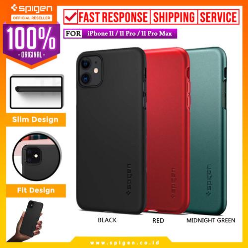 Foto Produk Case iPhone 11 Pro Max / 11 Pro / 11 Spigen Hardcase Thin Fit Casing - Hitam, iPhone 11 dari Spigen Official