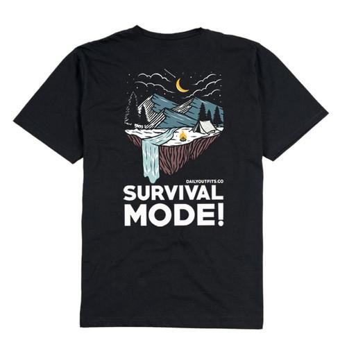 Foto Produk Dailyoutfits Kaos Tshirt Survival - Navy, S dari Daily Outfits DYO