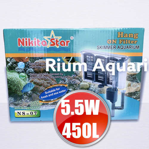 Foto Produk Filter Gantung BIG Aquarium Aquascape Big NIKITA STAR NS07 NS 07 dari Rium Aquarium