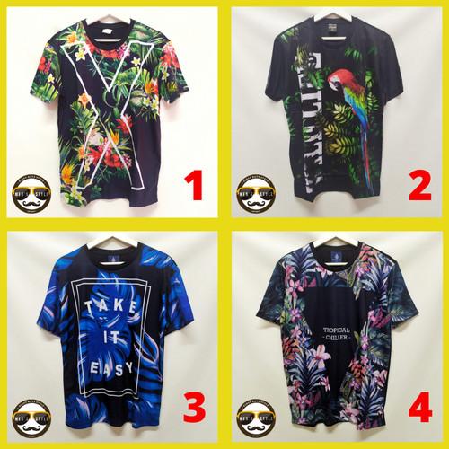 Foto Produk Baju Kaos Pria Distro Bangkok Printing Import Thailand Tropical Dream - M, NO.1 dari Men's Style King